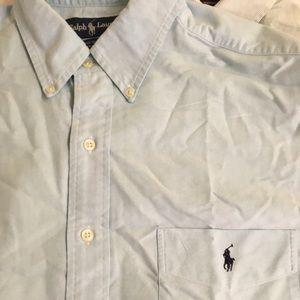 Men's L Polo Ralph Lauren Button Up Dress Shirt